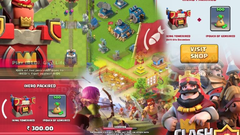 Supercell Games Like Clash of Clans, Clash Royal etc- Painted in RED