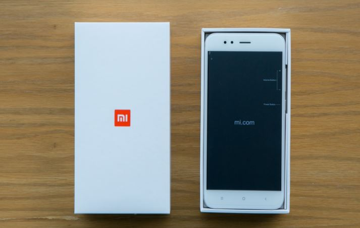 Xiaomi Mi A1 Box open