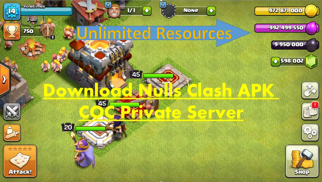 Nulls Clash APK COC Private Server FoneTimes.com