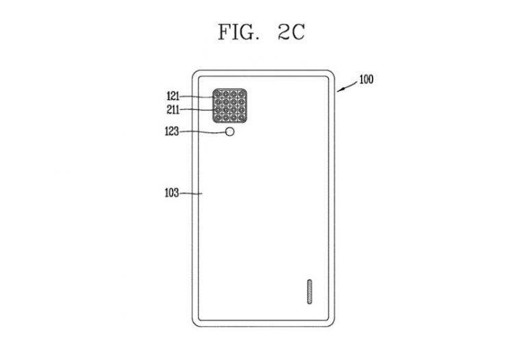 LG patent for a smartphone having rear 16 camera lens