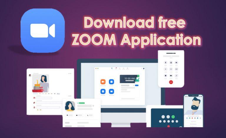 Download free ZOOM Cloud Meetings Application